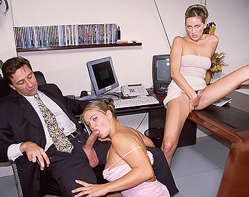 Private  porn video: Mandy Bright and Rita Faltoyano Work on Their Horny Boss