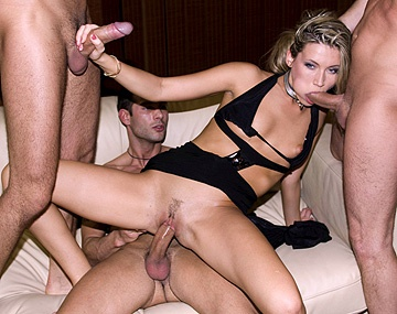 Private  porn video: Hot and Horny Blonde Cherry Jul Group Blowjob with Swallowed Facials