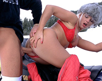 Private  porn video: Christina Meets Guy on Skiing Trip and Screws Him in the Cold Snow