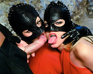 Private  porn video: Masked Vampires Liliane Tiger and Natalli Di Angelo Suck Dick for Cum