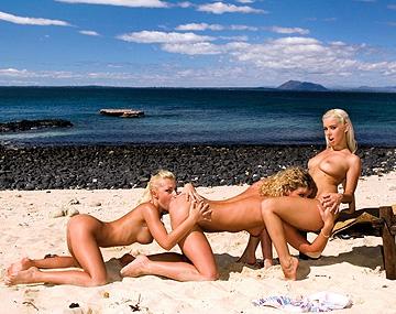 Private HD porn video: Christina, Jennifer und Nesty sind unsere geilen Aussteiger im Paradies