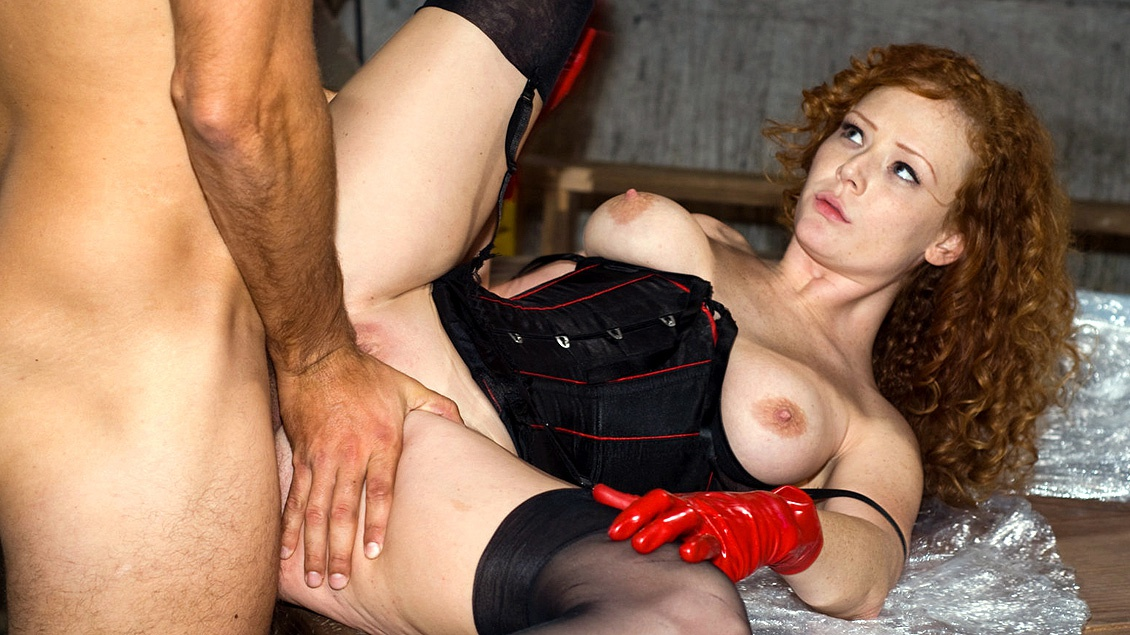 Audrey Hollander Porn - Audrey Hollander Stuffs Panties in Mouth of Man Wrapped in Cellophane