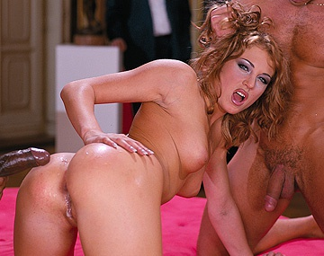 Private  porn video: Lynn Stone Has Her Asshole Stretched Open in This Interracial MMF 3way