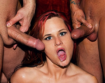 Private  porn video: Kami Andrews Has a Stiff Dick in Both Holes While Watched by a Voyeur