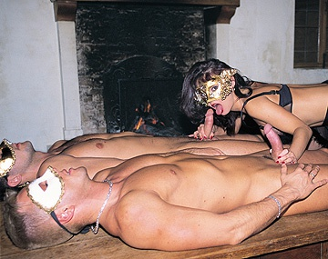 Private  porn video: Daniella Rush Wanda Curtis and Zita BDSM with Two Masked Dick Suckers
