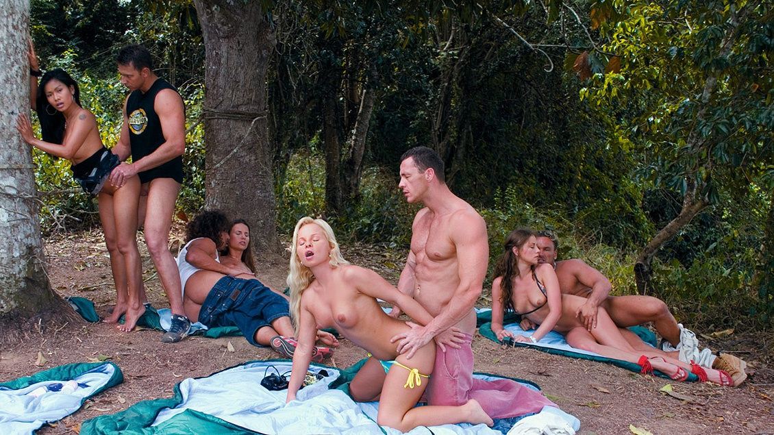Sharka Blue and Her Friends Camp out for Some Dick Sucking and a DP