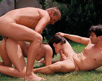 Private  porn video: Silvia Lancome Gives Deepthroat and Gets DP in Hardcore MMF Threesome