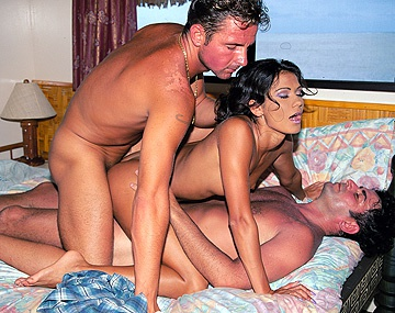 Private  porn video: On a Tropical Island Two Guys Double Penetrate Waitress Eva Roberts