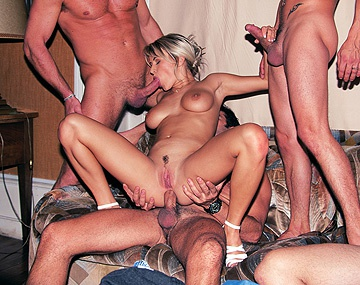 Private  porn video: Slutty Meridian Gets Gangbanged