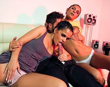 Private HD porn video: Black Angelika and Lucy Belle Masturbate and Get Pussy and Ass Fucked