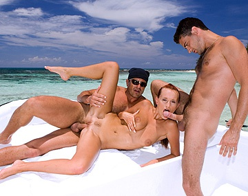 Private HD porn video: Claudia Adams Happily Satisfies Two Men on a Docked Boat
