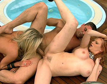 Private HD porn video: Laura Crystal and Tarra White FFM Threesome with Voyeur and Blowjobs