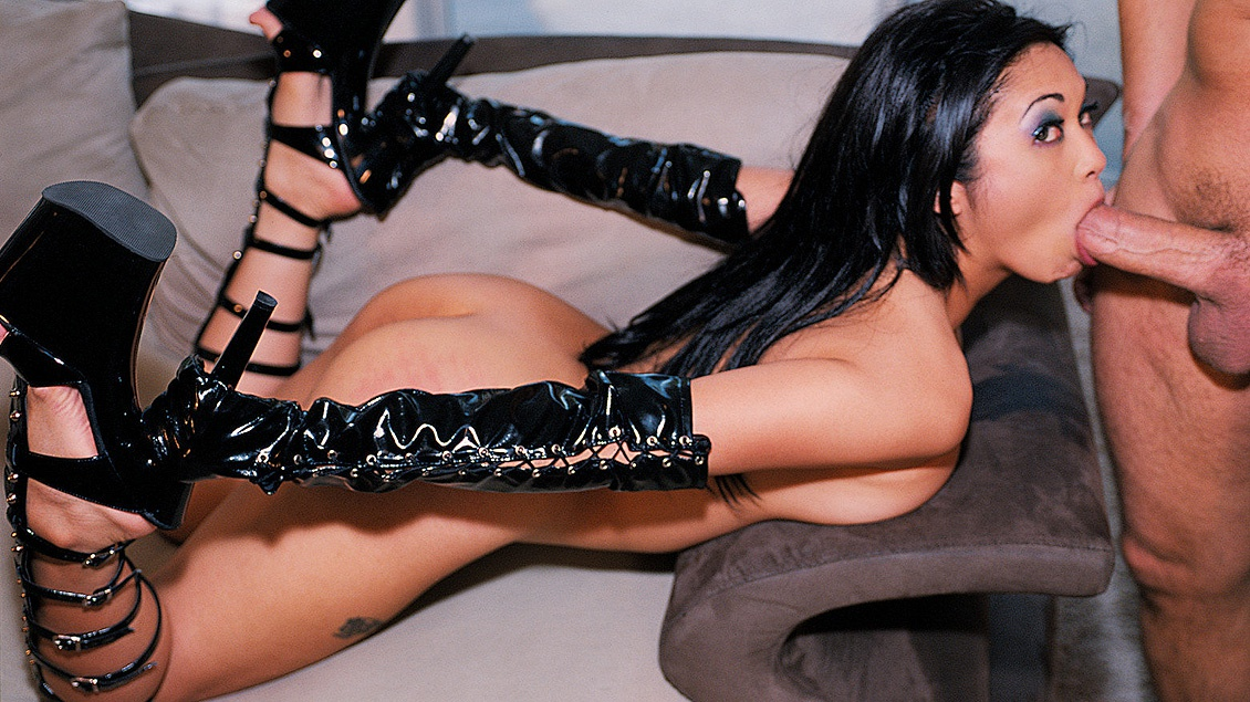 Asian Mika Tan Gives Erotic Blowjob While Wearing Latex and ...