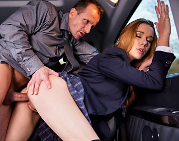 Private HD porn video: Alexis Crystal Sucks a Cock and Get Fucked by Him Very Hard in a Car