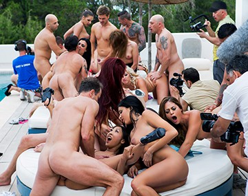 Private HD porn video: The biggest orgy ever seen in Ibiza celebrating Henessy's...