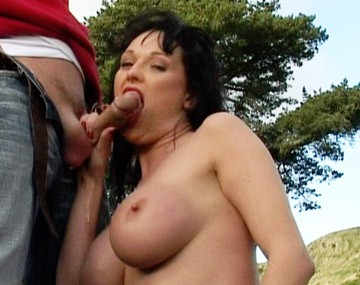 Private HD porn video: Busty Babe Donna Marie Loves Sucking Dick in the Woods