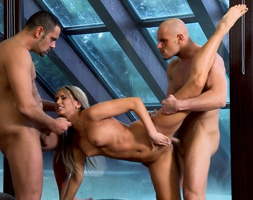 Private HD porn video: Aleska Diamond Loves Having Both Crotch Holes Fucked in This MMF DP