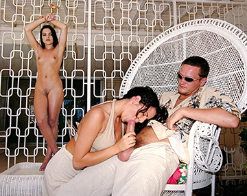 Private  porn video: Sex Slave Inga Fucks Her Captor and His Wife Patricia in a Hot Trio
