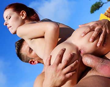 Private HD porn video: Red Headed Firecracker Susana Melo Sucks and Fucks by the Pool