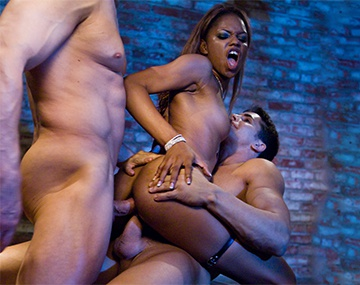 Private  porn video: Sexy Ebony Marie Luv is DP'd by Two Big White Cocks