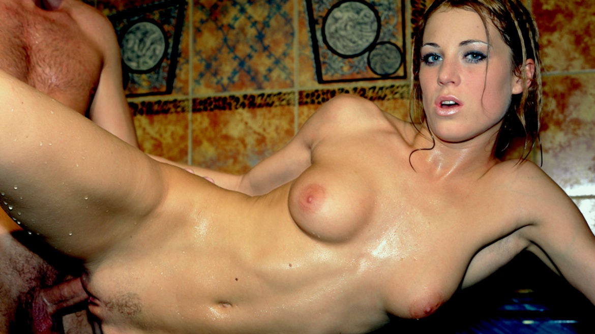 Blonde Bombshell Lynn Stone is Fucked Hard in a Jacuzzi