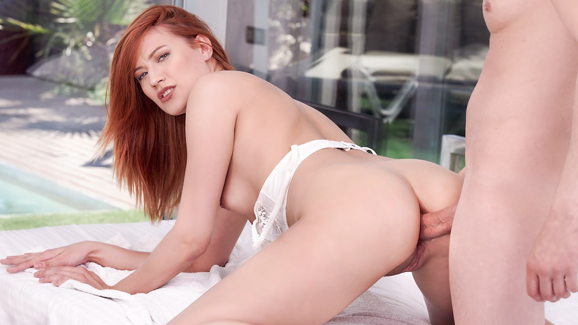 Private debut for redhead Stasy Riviera is loaded with anal