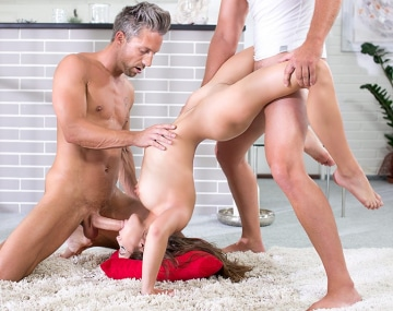Private HD porn video: Evelina Darling, trio yoga session with DP