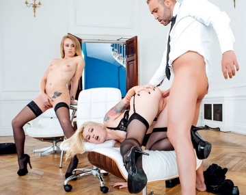 Private HD porn video: Misha Cross y Carmel Andersson, secretarias cachondas en...