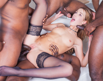 Private HD porn video: Alexis Crystal takes on Four Black Stallions