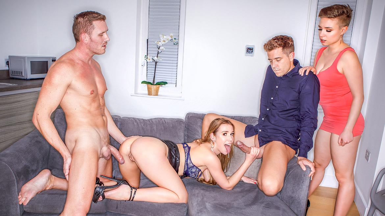 Alexis Crystal Enjoys Threesome with Voyeur Gabi Gold