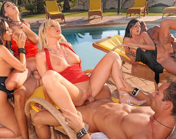 Private HD porn video: Orgy at the Villa, die Finale Orgie