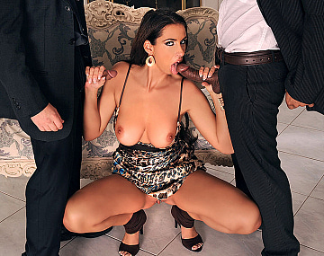 Private HD porn video: Lisa Sparkle Enjoys Interracial Threesome with Anal