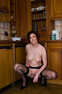 Milf kitchen british lara latex apologise
